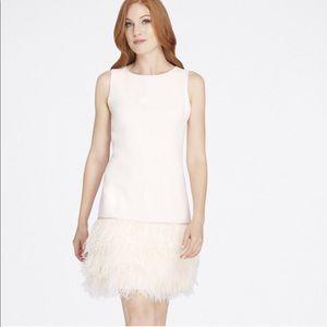 Tahari Arthur S. Levine Feather Trim Dress NWOT